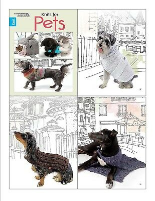 Knit Pattern Book KNITS For PETS ~ Dog & Cat ~ Toys, Sweaters, Beds +
