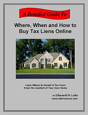 Where, When and How to Buy Tax Liens Online - Tax Lien Auctions