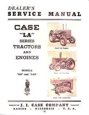Case La Series Tractor Service Manual Reproduction