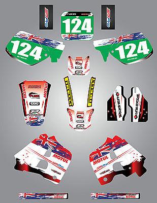 Full  Custom Graphic  Kit -AUSSIE PRIDE - HONDA CR 125 - 1991 / 1992 stickers