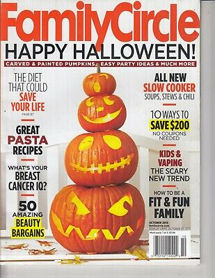 Family Circle Magazine October 2015 Halloween Decorating Ideas , pasta , Pumpkin (Pumpkin Halloween Decorating Ideas)