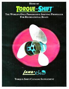 Land & Sea Torque Shift Auto Pitch Hole Shot Prop Propeller Service Manual on CD