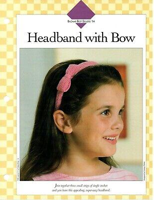 Crochet Pattern - Headband With Bow - Vanna's Bazaar Best-Sellers