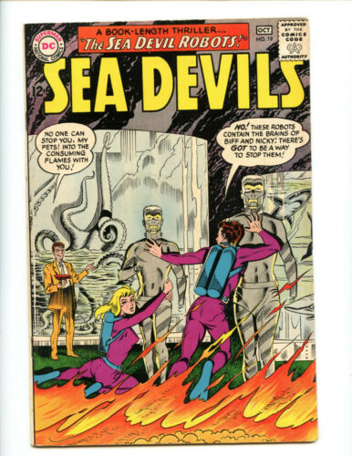 Sea Devils 19 Hidden Steve Ditko cover! Edge of high grade.