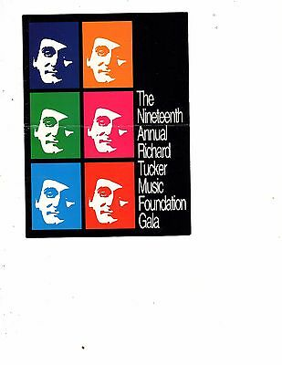 THE RICHARD TUCKER MUSIC FOUNDATION program october 30th 1994 (gary 15