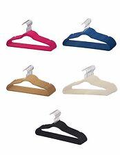 Sunbeam NEW 120 Pack 120PC Slim Space Saving Non-slip Velvet Velour Hangers