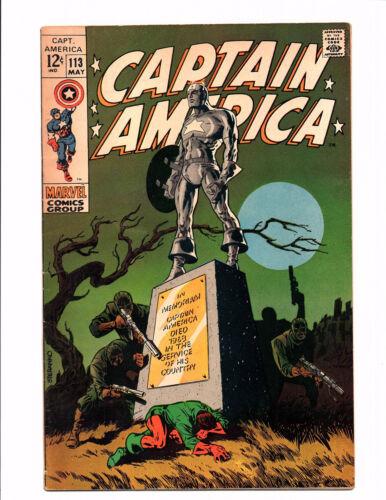 Captain America #113 (May 1969, Marvel) - Very Fine