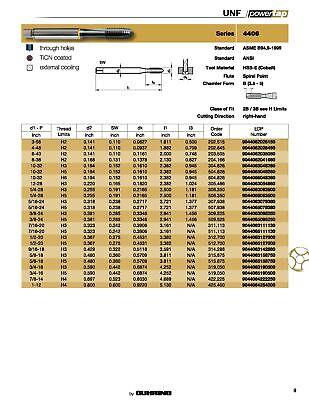 5818 H5 ANSI CNC Spiral Point Plug Cobalt TiCN Coated Guhring PowerTap