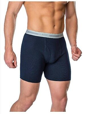 Gildan Mens Cool Spire Cotton Boxer Briefs Underwear Size X-Large 40-42 5 Pack