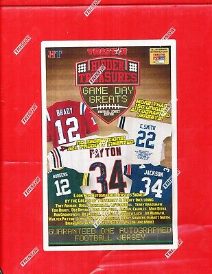 a7901694 2016 TRISTAR HIDDEN TREASURES GAME DAY GREATS FOOTBALL JERSEY EDITION  SEALED BOX
