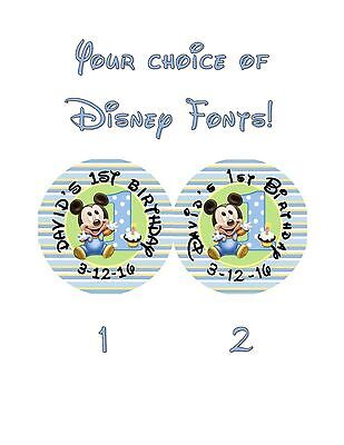 20 Mickey Mouse 1st Birthday Stickers Lollipop Labels Party Favors 2 inch](Mickey Mouse Lollipops)