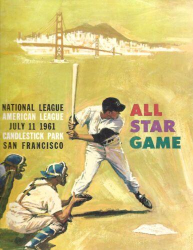 1961 All Star Game Program at Candlestick Park NL Wins in 10 Miller Balks!!