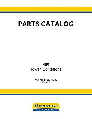 New Holland 489 Hay Tools Parts Catalog Manual