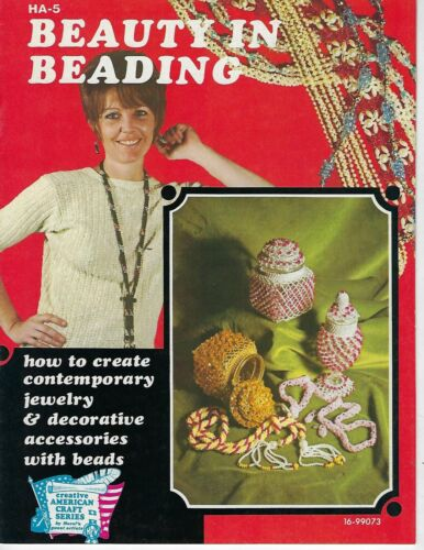 Beauty in Beading Vintage Jewelry Making How to Make Guide Craft Pattern Book