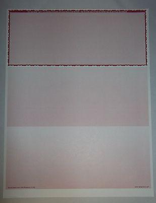 Form 1000 Versacheck 500 Blank Business Checks Use W Quicken Quickbooks Msmoney