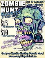 Halloween Zombie Hunt UV Paintball Ride!