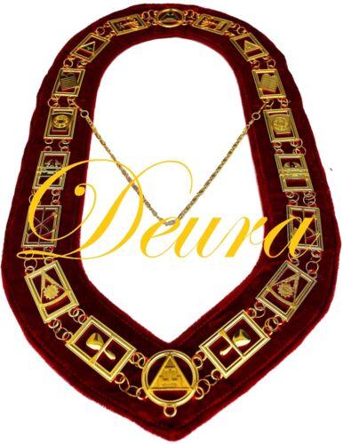 Royal Arch Masonic Collar Regalia RED Backing York Rite DMR-300GR