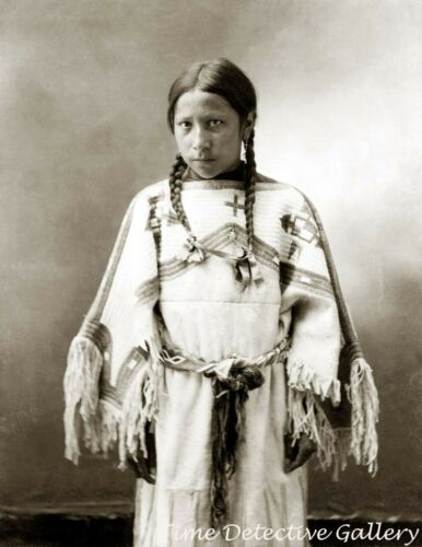 "Native American Lakota Sioux Girl ""Julia American Horse"" - Historic Photo Print"