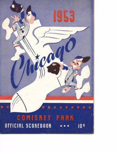 1953 Chicago White Sox-Indians Program Big 5-Game Series!!