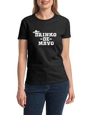 Ladies Drinko de Mayo Shirt Drinking T-Shirt Funny Mexico Tee Party May 5th (5 De Mayo Party)