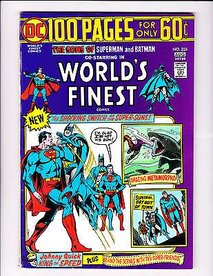 World's Finest  No.224     :1974 :      : Super Sons Cover! :