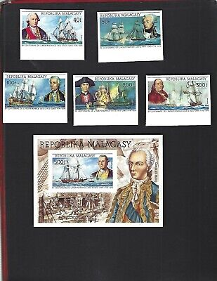 Malagasy sc#525-6, C137-9 #C140 Souvenir Sheet (1975) Complete MNH Imperf
