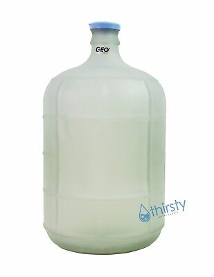 White 3 Gallon GLASS Water Bottle Frosted Carboy Canteen Jug Container Jar Brew