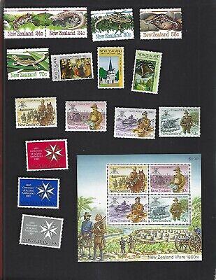New Zealand sc#803-17 #814a Souvenir Sheet (1984-5) MNH