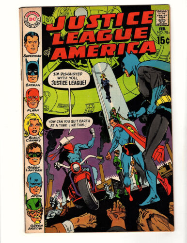 Justice League of America #78 (1970, DC) FN/VF Gil Kane Cover Denny O