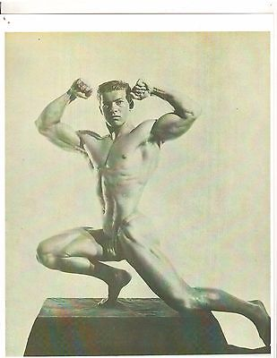 bodybuilder young LARRY SCOTT Bodybuilding  Muscle Photo B&W