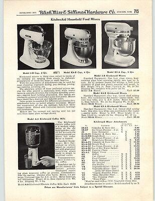 1950 PAPER AD 3 Models Kitchenaid Electric Food Mixer K5-A K4-B 3-B