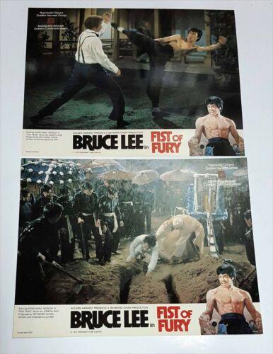 "Bruce Lee ""Fist of Fury"" Nora Miao RARE Original 1972 Set of 8 Lobby Cards"