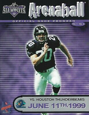 1999 New England Sea Wolves vs Houston ThunderBears Arena Football Program #FWIL