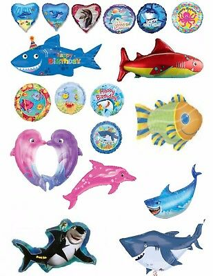 Under The Sea Balloons Party Ware Decoration Underwater Beach Helium Dolphin