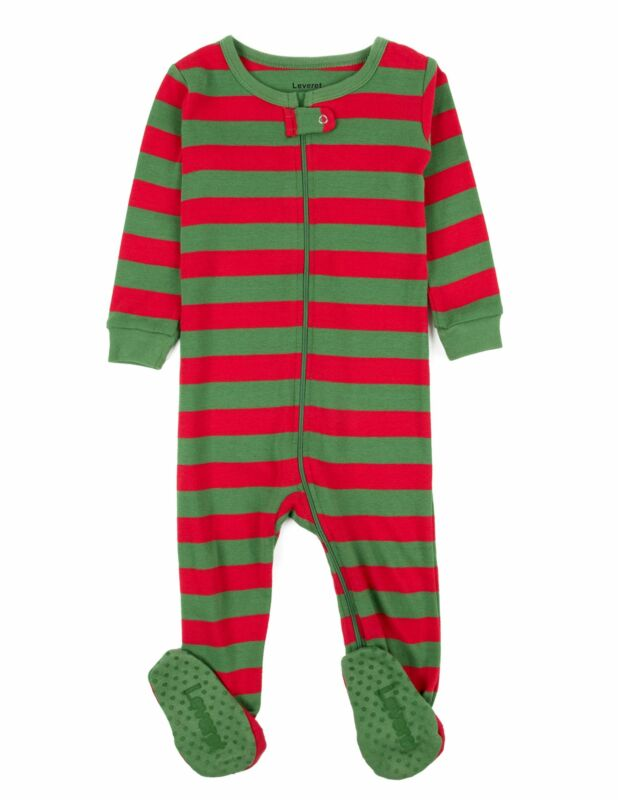 Leveret Striped Baby Boys Girls Footed Pajamas Sleeper 100% Cotton Kids &