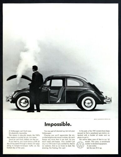 "1961 VW Volkswagen Beetle photo ""Impossible. Can"