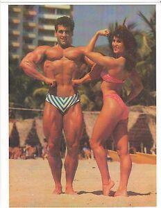 Ms Olympia Rachel Mclish/Bob Paris On The Beach Bodybuilding Muscle Photo Color