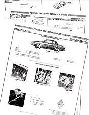RENAULT CARAVELLE 1131 1132 BODY PARTS LIST CRASH SHEETS