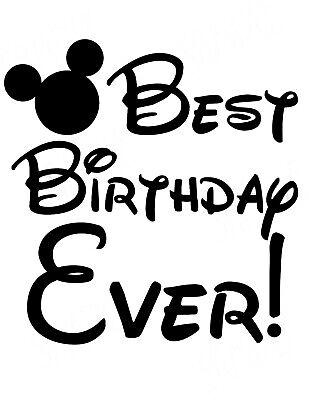 *****DISNEY BEST BIRTHDAY EVER MICKEY*******************T-SHIRT IRON ON