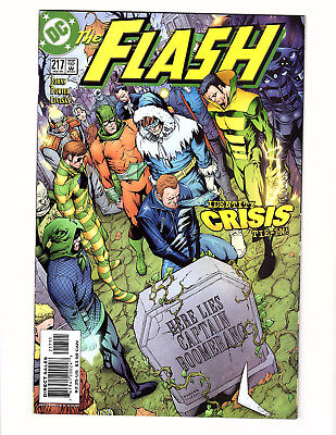 The Flash #217 (2005, DC) VF Vol 2 Identity Crisis Tie-In Capt Boomerang Funeral