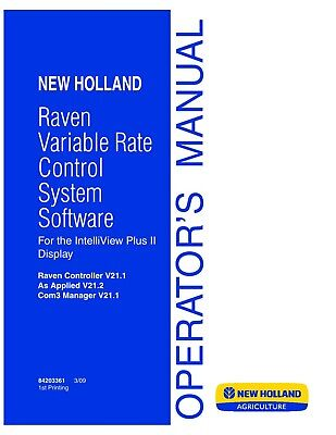 New Holland Intelliview Plus Ii Raven Variable Rate Control Operators Manual