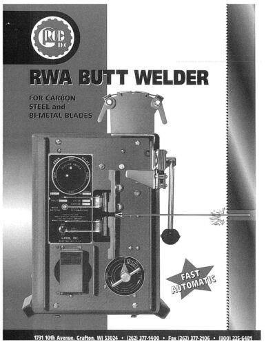 Grob Bandsaw RWA Blade Welder with Stand Operator