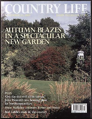 Country Life Nov 2003 FENTON TOWER LOTHIAN WESTWIND GARDEN WILTS TURNER VENICE