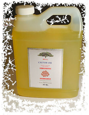 CASTOR OIL USP GRADE ORGANIC COLD PRESSED PURE HEXANE FREE 4 Oz  to 36 -
