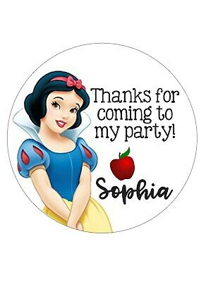 Birthday party/ baby shower Thank you round Favor Tags / Stickers Snow -