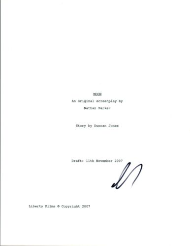 Sam Rockwell Signed Autographed MOON Full Movie Script COA