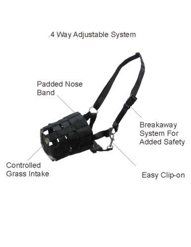 Horse Muzzle Heavy Duty Tough Nylon Easy Breathable Horse Muzzle