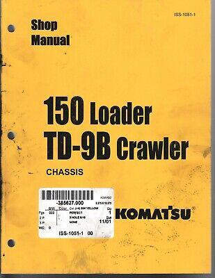 Komatsu International 150 Loader Td-9b Crawler Shop Manual