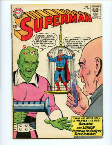 Superman 167 Luthor Brainiac origin solid copy