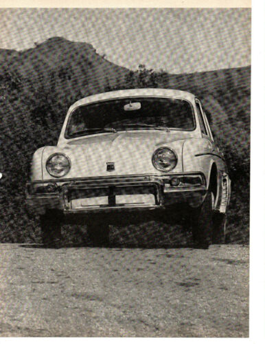 1962 RENAULT DAUPHINE ~ ORIGINAL 4-PAGE ROAD TEST / ARTICLE / AD